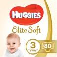Подгузники Huggies Elite Soft 3 Mega 5-9 кг 80 шт