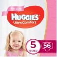 Подгузники Huggies Ultra Comfort 5 для девочек 12-22 кг 56 шт