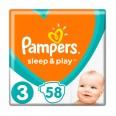 Підгузки Pampers Sleep & Play 3 Midi 6-10 кг 58 шт