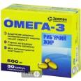 Омега 3 Рыбий жир капсулы, 500 мг  №30