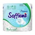 Бумага туалетная Soffione Premio Natural 3 сл, белая №4