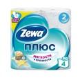 Двухслойная туалетная бумага Zewa Plus Свежесть Океана 4 шт