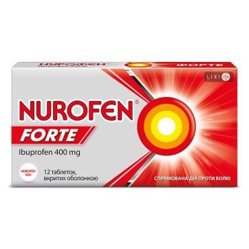 НУРОФЕН ФОРТЕ таблетки 400 мг №12 инструкция и цены