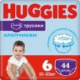 Трусики-подгузники Huggies Pants для мальчиков размер 6 15-25 кг 44 шт