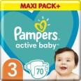 Подгузники Pampers Active Baby Размер 3 (Midi) 6-10 кг 70 шт