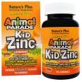 Цинк для детей Kid Zinc Animal Parade Natures Plus 90 таблеток для рассасывания вкус мандарина