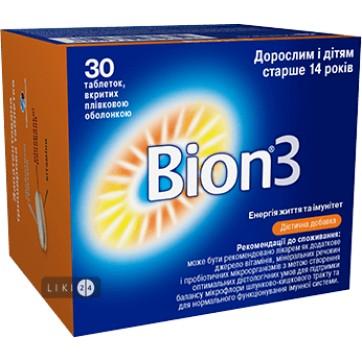 Бион 3 таблетки, №30 инструкция и цены