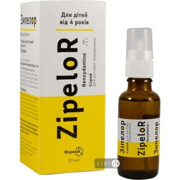 Зіпелор спрей д/ротов. порожн. 1,5 мг/мл фл. 30 мл інструкція та ціни