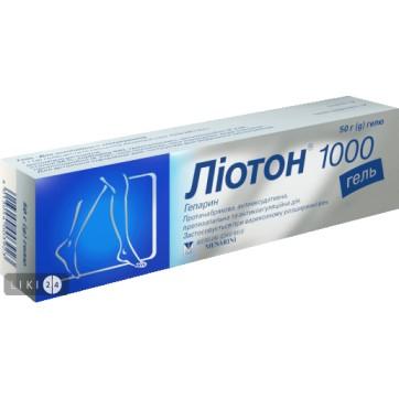 Лиотон 1000 гель туба 50 г инструкция и цены