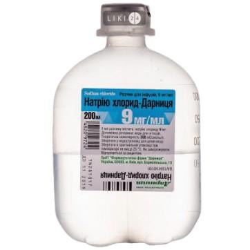 Натрия хлорид раствор 0,9 %, 200 мл инструкция и цены