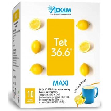 Тет 36,6 МАКСИ с ароматом лимон пор. д/оральн. р-ра пакет-саше №10 инструкция и цены