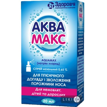 Аквамакс спрей назал. 0,65 % фл. с клапаном-насосом 20 мл, с насадк.-расп. инструкция и цены