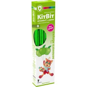 КітВіт Вітамін С + Цинк зі смаком зеленого яблука гранули  5,2 г, №7 інструкція та ціни