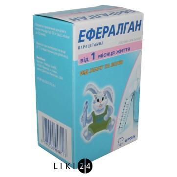 Эффералган сироп д/перорал. прим. 3 % фл. 90 мл, с мерной ложкой инструкция и цены