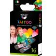 Набор пластырей бактерицидных Milplast Tattoo на полимерной основе детские, 16 шт
